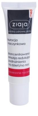 Ziaja Med Capillary Care концентрований догляд з заспокоюючим ефектом  для чутливої шкіри зі схильністю до почервоніння