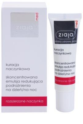 Ziaja Med Capillary Care koncentrirana lokalna nega za občutljivo kožo, ki je nagnjena k rdečici, s pomirjevalnim učinkom 1