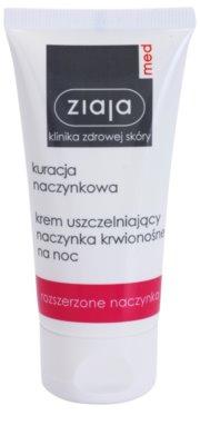 Ziaja Med Capillary Care crema de noapte de restaurare pentru a preveni  formarea de noi capilare extinse