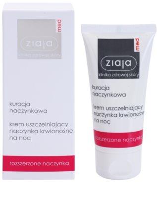 Ziaja Med Capillary Care stärkende Nachtcreme zur Vermeidung platzender Blutgefäße und der Bildung geweiteter Blutgefäße 1