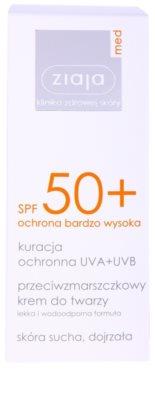 Ziaja Med Protecting UVA + UVB creme solar antirrugas SPF 50+ 2