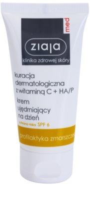 Ziaja Med Vitamin C & Hyaluronic Acid creme antirrugas iluminador SPF 6