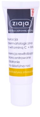 Ziaja Med Vitamin C & Hyaluronic Acid revitalizacijski serum za utrujeno kožo