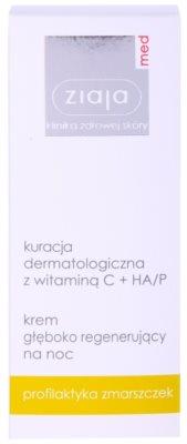 Ziaja Med Vitamin C & Hyaluronic Acid tiefenregenerierende Nachtcreme für müde Haut 2
