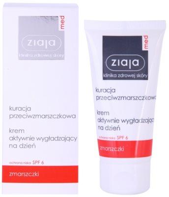 Ziaja Med Anti-Wrinkle Care creme suavizante ativo para unificar o tom de pele SPF 6 1