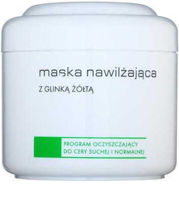 Ziaja Pro Cleansers Dry and Normal Skin maska nawilżająca z zielonej glinki