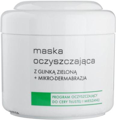 Ziaja Pro Cleansers Oily and Combination Skin очищуюча маска з зеленою глиною та мікрокристалами
