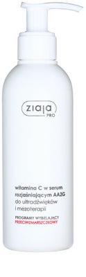 Ziaja Pro Whitening aufhellendes Serum mit Vitamin C nach Ultraschallbehandlung und injektionsfreier Mezotherapie
