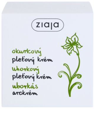 Ziaja Cucumber kojący krem nawilżający z witaminą A i E 2