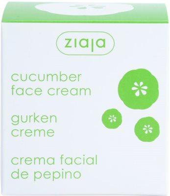 Ziaja Cucumber creme hidratante e apaziguador com vitaminas A e E 3