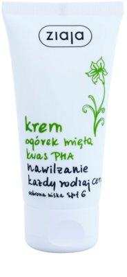 Ziaja Cucumber crema de fata hidratanta SPF 6