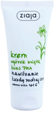 Ziaja Cucumber hydratační pleťový krém SPF 6