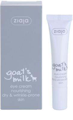 Ziaja Goat's Milk creme de olhos para pele seca 1