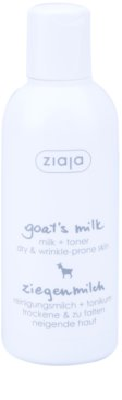 Ziaja Goat's Milk čistilno mleko + tonik za obraz 2v1
