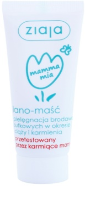Ziaja Mamma Mia pomada com lanolina para mamilos de mulheres que amamentam