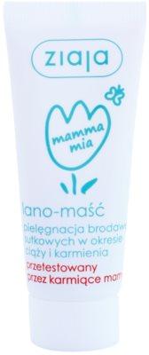 Ziaja Mamma Mia unguent pe bază de lanolină pentru  mameloane pentru femei care alapteaza