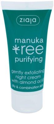 Ziaja Manuka Tree Purifying creme exfoliante de noite antiacne