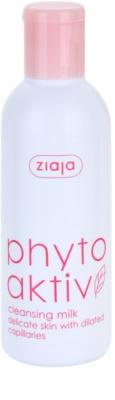 Ziaja Phyto Aktiv mleko za odstranjevanje ličil za občutljivo kožo, nagnjeno k rdečici