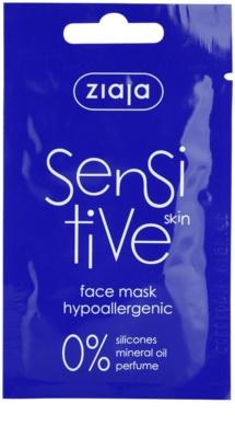 Ziaja Sensitive máscara hipoalergénico