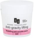 AA Cosmetics Dermo Technology Anti-Gravity Lifting моделиращ крем с противобръчков ефект 55+