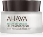 Ahava Beauty Before Age liftingująco - ujędrniający krem na noc do twarzy, szyi i dekoltu