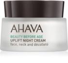 Ahava Beauty Before Age nočna lifting krema za učvrstitev kože za obraz, vrat in dekolte