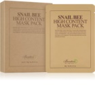 Benton Snail Bee plátenná maska pre kompletnú starostlivosť s extraktom zo slimáka