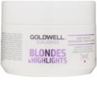 Goldwell Dualsenses Blondes & Highlights máscara regeneradora neutraliza tons amarelados