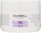 Goldwell Dualsenses Blondes & Highlights regeneráló maszk semlegesíti a sárgás tónusokat