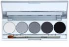 Kryolan Basic Eyes paleta očních stínů 5 barev se zrcátkem a aplikátorem