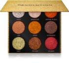 Makeup Revolution Pressed Glitter Palette Pressed Shimmer Palette