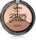NYX Professional Makeup 3 Steps To Sculpt Face Sculpting Palette kontúrovacia paletka na tvár