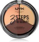 NYX Professional Makeup 3 Steps To Sculpt kontúrovacia paletka na tvár