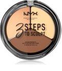 NYX Professional Makeup 3 Steps To Sculpt paleta za konture obraza