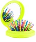 Rainbow Brush Pocket kefa na vlasy so zrkadielkom