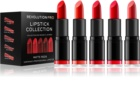 Revolution PRO Lipstick Collection sada rúžov Matte Reds (5 ks)