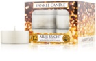 Yankee Candle All is Bright lumânare 12 buc