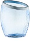 Yankee Candle Pearlescent Crackle Glass Votive Candle Holder    Blue