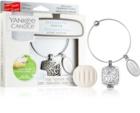 Yankee Candle Clean Cotton parfum pentru masina   pandantiv + refill (Square)