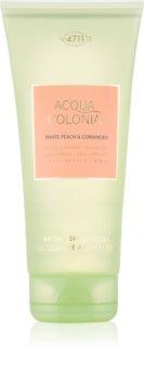 4711 Acqua Colonia White Peach & Coriander tusfürdő gél unisex 200 ml