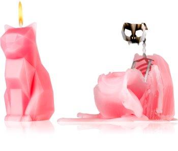 54 Celsius PyroPet KISA (Cat) dekoratívna sviečka 17 cm Dusty Pink