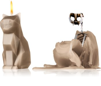 54 Celsius PyroPet KISA (Cat) decorative candle grey 17 cm