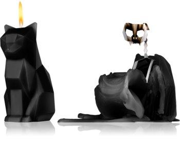 54 Celsius PyroPet KISA (Cat) dekoratívna sviečka 17 cm Black