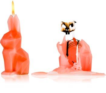 54 Celsius PyroPet HOPPA (Bunny) dekoratívna sviečka peach 17 cm