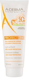 A-Derma Protect Kids schützende Sonnenmilch für Kinder SPF 50+
