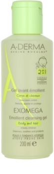 A-Derma Exomega zvláčňující mycí gel na tělo a vlasy pro děti
