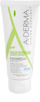 A-Derma Exomega zaščitna krema za zelo občutljivo suho in atopično kožo
