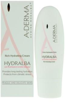 A-Derma Hydralba vlažilna krema za suho kožo