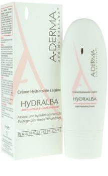 A-Derma Hydralba хидратиращ крем  за нормална към смесена кожа