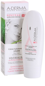A-Derma Hydralba feuchtigkeitsspendende Creme für normale bis gemischte Haut SPF 20